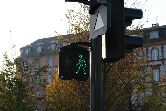 Strasbourg traffic light man