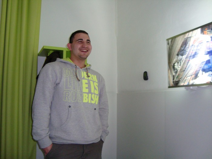 My brother in the Gat Raval hostel