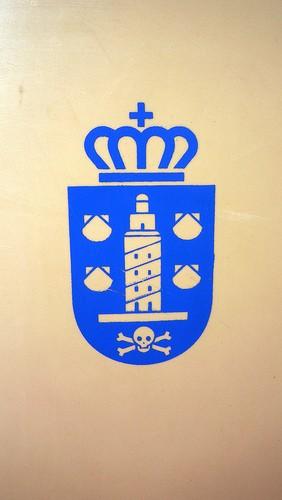 Este es el escudo de A Coruña, mooooola.