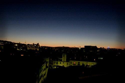 Vista desde un tejado en el centro de Barcelona.