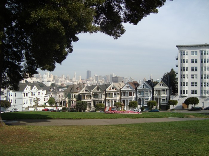 The Painted Ladies - View from Alamo Square