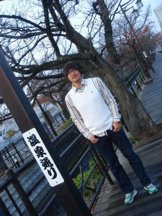 在箱根温泉酒店边拍摄